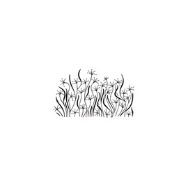 "Clearstamp ""Flamingo Grass"", 50x80mm"