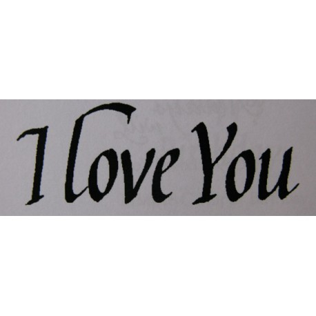"Clearstamp ""I Love You"", 25x67mm"