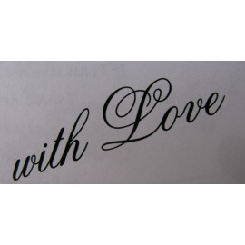 "Clearstamp ""with Love"", 25x50mm"