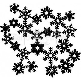 """Schablone """"Joined Snowflakes"""", 13x15cm"""