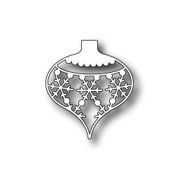 "Stanzform ""Snowflake Ornament"",  4.32x4.9cm"