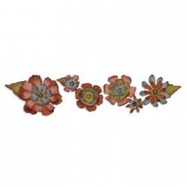 "Decorative Strip Die ""Tattered Flower"", 6x32cm"