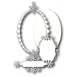 "Stanzform ""Peaceful Snowflake Frame Set"""