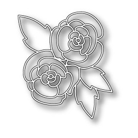 "Stanzform ""Gorgeous Gardenia Outline"", 6.6x7.4cm"
